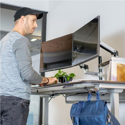 Ergotron WorkFit Electric 46 Inch Surface Standing