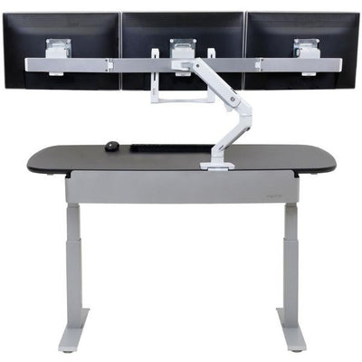 Ergotron WorkFit Electric 58 Inch Surface Back View