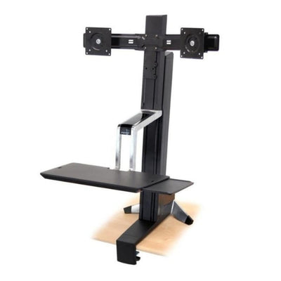 Ergotron WorkFit S Sit Stand Workstation 3D View Facing Left