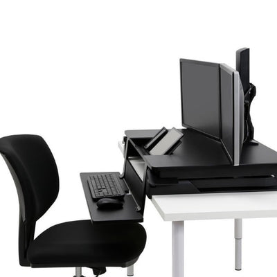 Ergotron WorkFit TLE Sit Stand Desktop Workstation Top Side VIew
