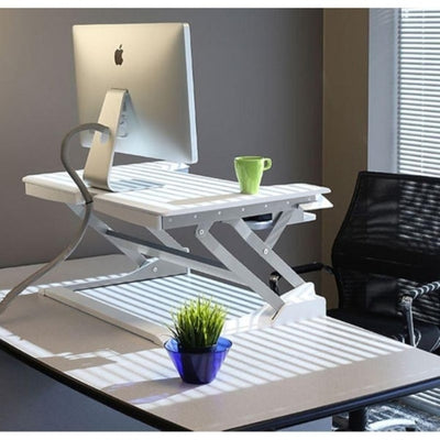 Ergotron WorkFit T Sit Stand Desktop Workstation On Office Desk