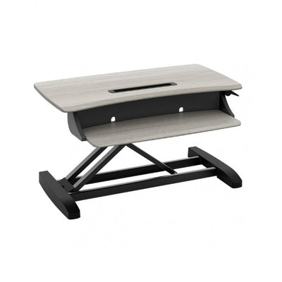 Ergotron WorkFit Z Mini Sit Stand Desktop 3D View Facing Right