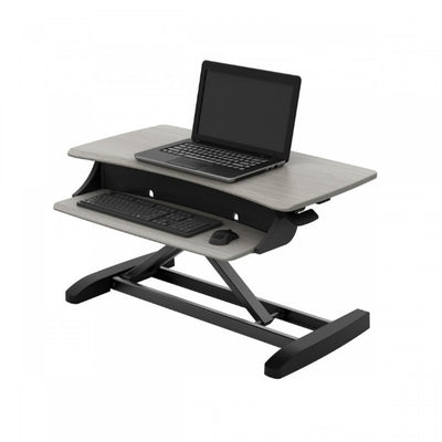 Ergotron WorkFit Z Mini Sit Stand Desktop Top Front Side View