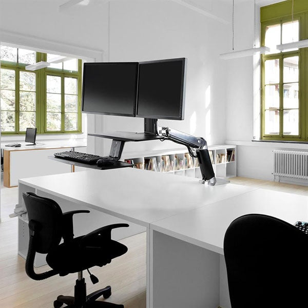 Ergotron Workfit A Dual With Suspended Keyboard Standing