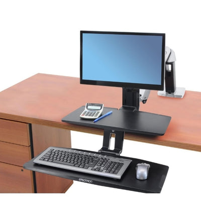 Ergotron Workfit A with Suspended Keyboard Top Front View