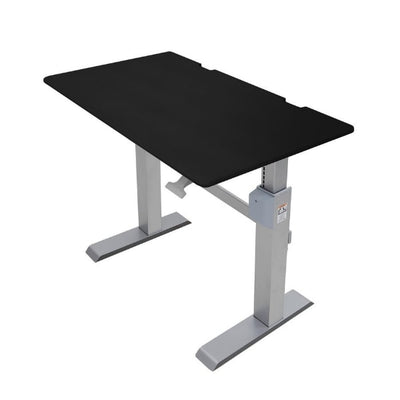 Ergotron Workfit DL 48 Sit Stand Desk 3D View Black