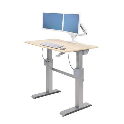Ergotron Workfit DL 48 Sit Stand Desk 3D View Maple