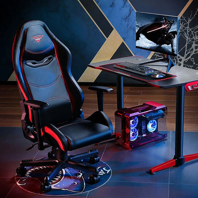 Eureka Black-Red Gaming Chair 3D View Loaded