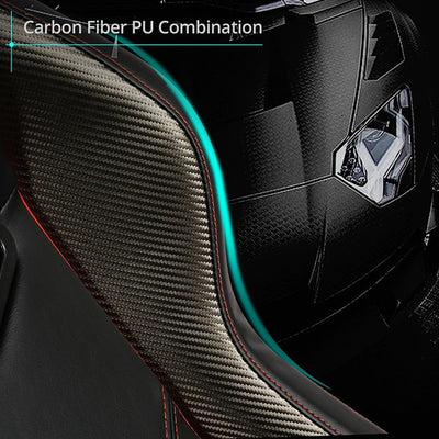 Eureka Black-Red Gaming Chair Carbon Fiber