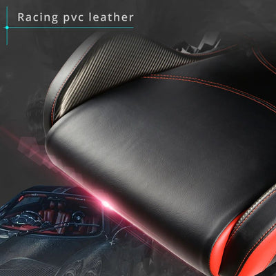 Eureka Black-Red Gaming Chair PVC Leather