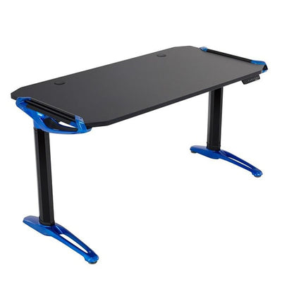 Eureka E1 Racer Gaming Desk Electric Blue 3D View Facing Right