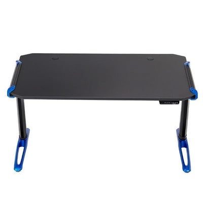 Eureka E1 Racer Gaming Desk Electric Blue Front View