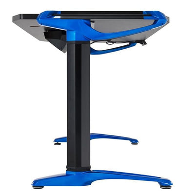 Eureka E1 Racer Gaming Desk Electric Blue Side View