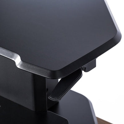 Eureka Ergnomic 28 inch Corner Standing Desk Converter Close Up Black