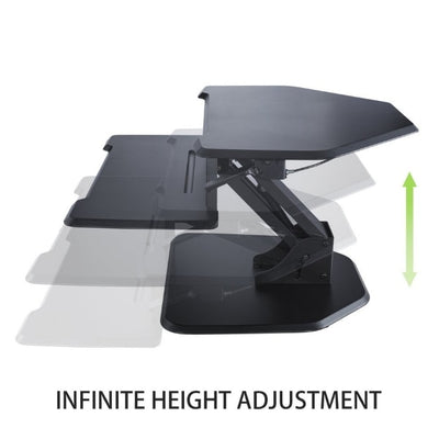 Eureka Ergnomic 28 inch Corner Standing Desk Converter Height Setting Black