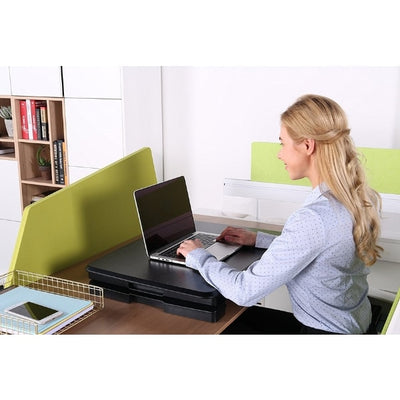 Eureka Ergonomic 26 inch Compact Standing Desk Converter Compressed Sitting