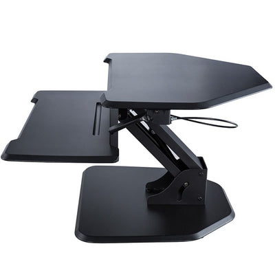 Eureka Ergonomic 28 Corner Black Top Side View