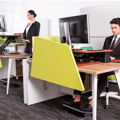 Eureka Ergonomic 31.5 Single Arm Cherry Sitting And Standing