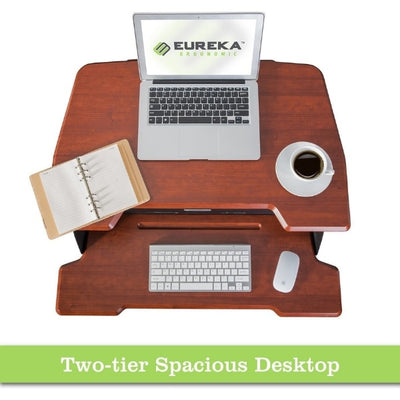Eureka Ergonomic 31.5 inch Single Arm Sit-Stand Desk Top View