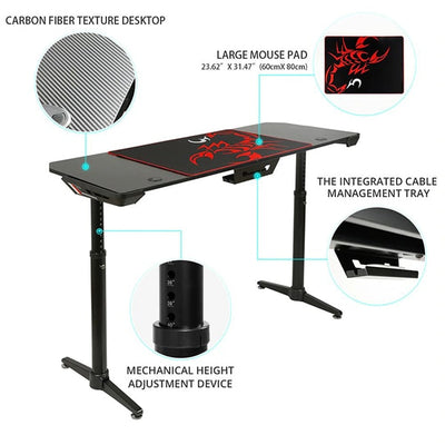 Eureka IM60 Gaming Table Features