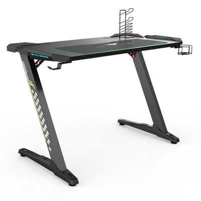 Eureka Z1-S Gaming Desk 3D View Facing Right