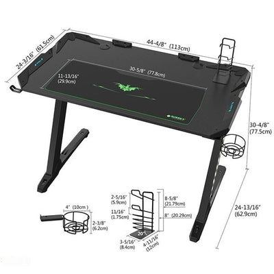 Eureka Z1-S Gaming Desk Dimensions