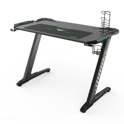 Eureka Z1-S Gaming Desk Top Front Side View