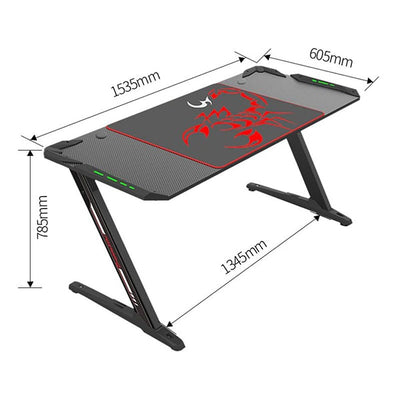 Eureka Z60 Gaming Desk Dimension