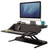 Fellowes Lotus Black 3D View Facing Left
