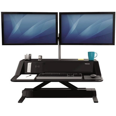 Fellowes Lotus DX Black Front View Dual