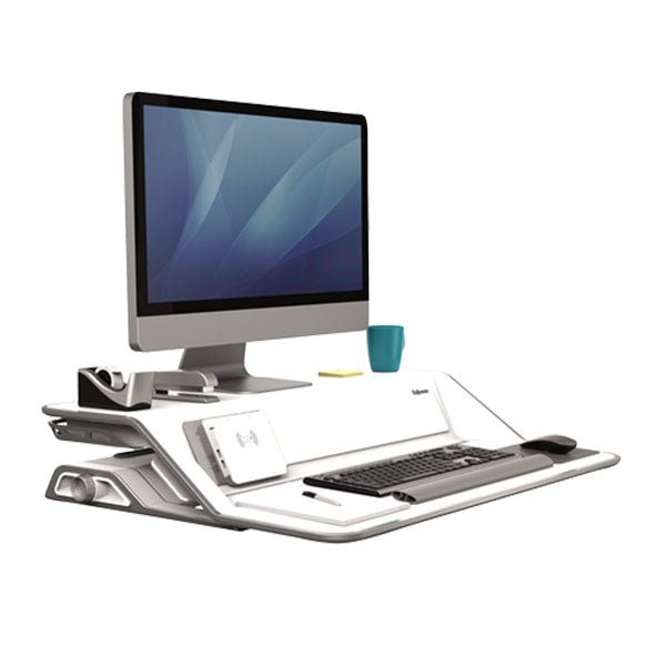 Fellowes Lotus Dx Sit Stand Workstation Standing Desk Nation
