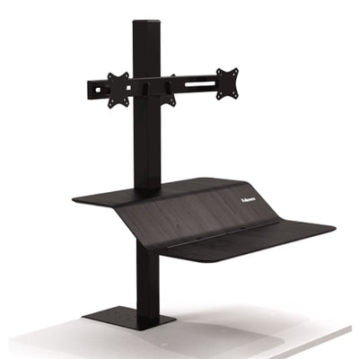 Fellowes Lotus VE Sit Stand Workstation Dual 3D View