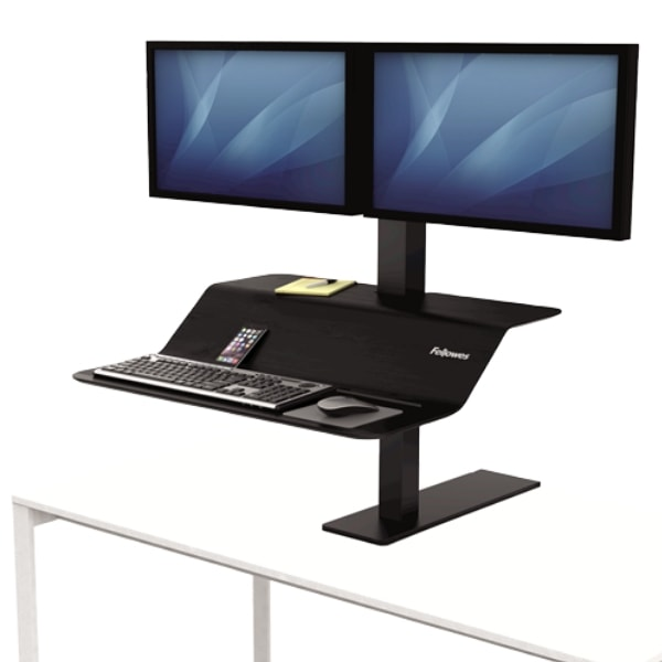 Fellowes Lotus VE Sit Stand Workstation Dual 3D View Single Monitor