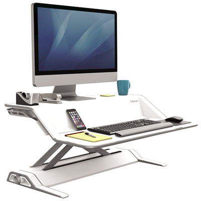 Fellowes Lotus White 3D View Facing Right