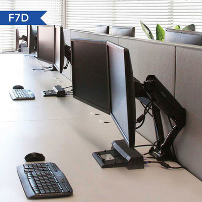 Fleximount F7D Dual Monitor Arm  Front Side View