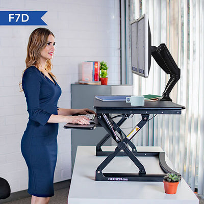 Fleximount F7D Dual Monitor Arm  Side View