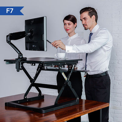Fleximount F7 Single Monitor Arm Side View