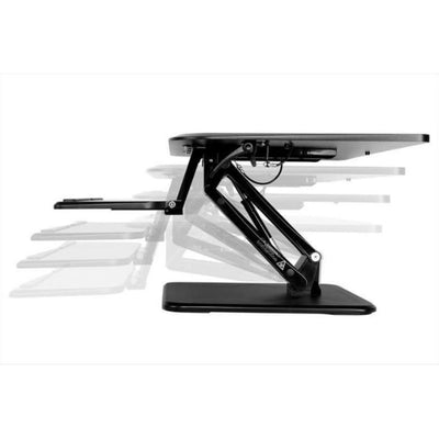 Flexispot F3M Compact Standing Desk Converter Height Setting Side View