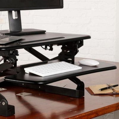 Flexispot M1B 27 inch Standing Desk Converter Close Up