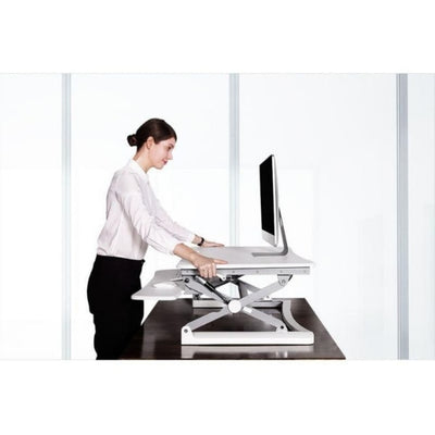 Flexispot M1B 27 inch Standing Desk Converter Standing Facing Right