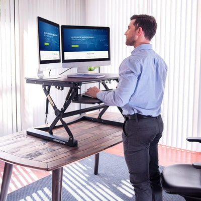 Flexispot M2 35 inch Standing Desk Converter Front Side View