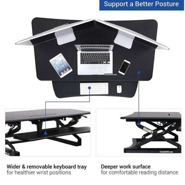 Amazing Flexispot M3B 47 Inch Standing Desk Converter Ibusinesslaw Wood Chair Design Ideas Ibusinesslaworg