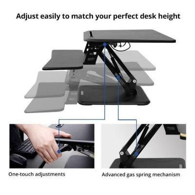 Flexispot M5 Compact Standing Desk Converter Adjustable Lever