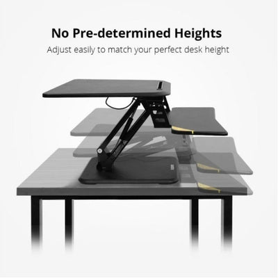 Flexispot M5 Compact Standing Desk Converter Side View Height Settings