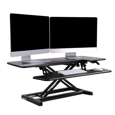 Flexispot M7L AlcoveRiser 3D View Dual Monitor