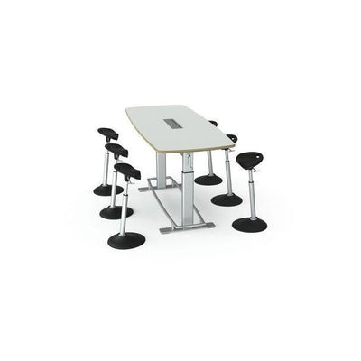 Focal Upright Confluence Standing Conference Table Bundle With Chairs