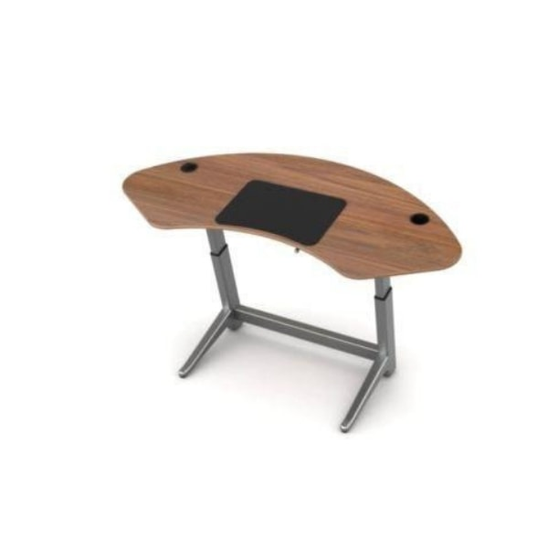 Focal Upright Sphere Standing Desk Black Walnut