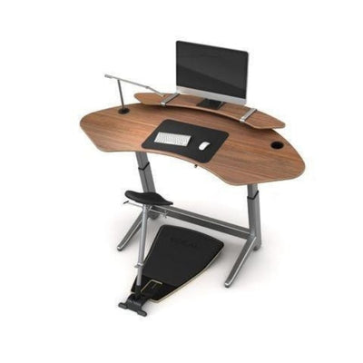 Focal Upright Sphere Standing Desk Top View With Monitor