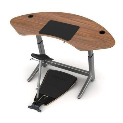 Focal Upright Sphere Standing Desk With Chair And Mat