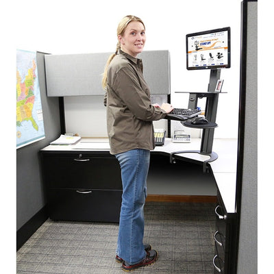Health Postures Taskmate Go 6300  3D View Standing